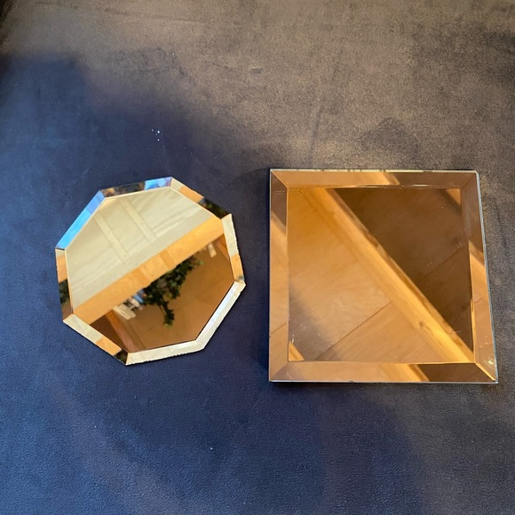 Vintage beveled mirrors octagon and square